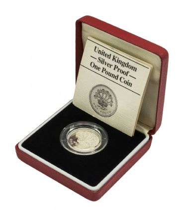 1986 Silver Proof Piedfort One Pound